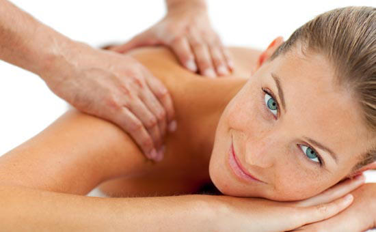 Person enjoying a relaxing remedial massage